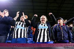 Newcastle United fans celebrate victory over Burnley in the Premier League - Mandatory by-line: Robbie Stephenson/JMP - 26/11/2018 - FOOTBALL - Turf Moor - Burnley, England - Burnley v Newcastle United - Premier League