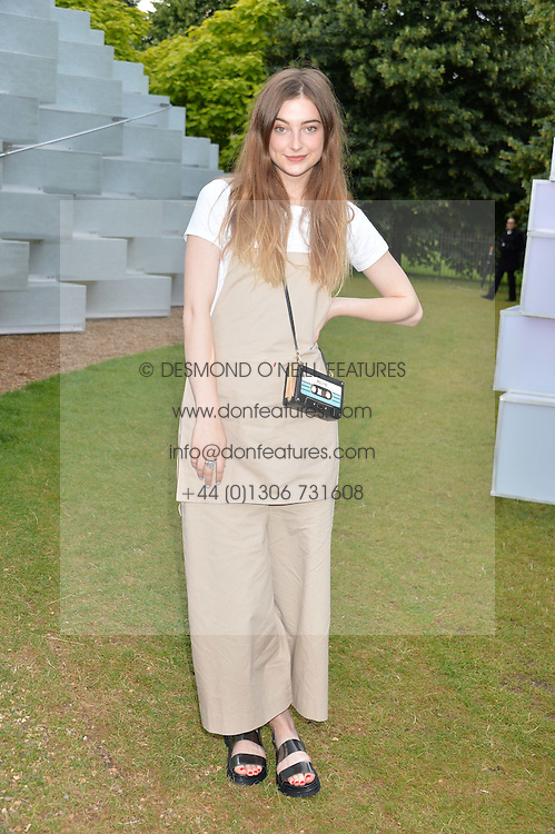 Actress ANTONIA CLARKE at a party hosted by fashion store COS to celebrate The Serpentine Park Nights 2016 held at The Serpentine Gallery, Kensington Gardens, London on 12th July 2016.