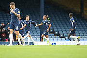 Southend United midfielder Timothee Dieng (8) celebrating after scoring goal to make it 1-2 during the EFL Sky Bet League 1 match between Southend United and AFC Wimbledon at Roots Hall, Southend, England on 12 October 2019.