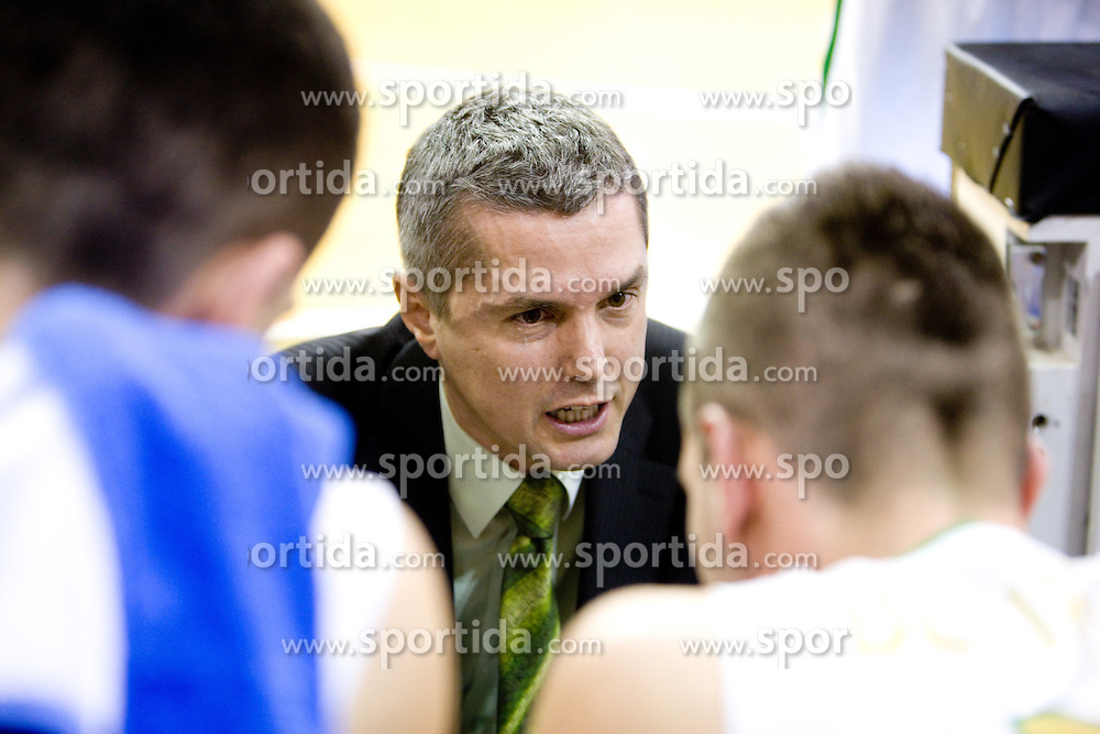 Assistant coach of Olimpija Zoran Martic at Euroleague basketball match in 6th Round of Group C between KK Union Olimpija and Maccabi Tel Aviv, on December 3, 2009, in Arena Tivoli, Ljubljana, Slovenia. Maccabi defeated Union Olimpija 82-65. (Photo by Vid Ponikvar / Sportida)