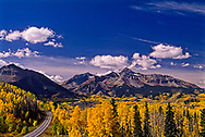 South of Telluride, Colorado, San Juan Mountains, San Juan National Forest, Mt. Wilson 14,246, San Juan Skyway, Highway 145