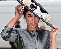 Amber Le Bon photocall. British model Amber Le Bon launches Royal Ascot's 2013 Dress Code Assistants' outfits, supplied by Hobbs London.  Hobbs, London, United Kingdom, May 22, 2013. Photo by Nils Jorgensen / i-Images...