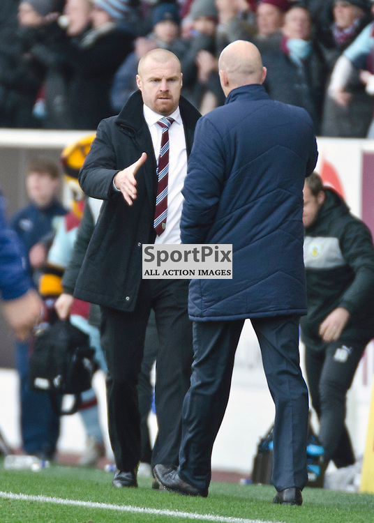 Sean Dyche and Henning Berg shake hands at the end of the game - Burnley v Blackburn Rovers NPower Championship Turf Moor 02 December 2012 (c) Greig Bertram | StockPix.eu