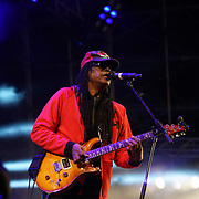 London,England,UK, 17th Aug 2016 : Junior Marvin's Wailers preforms Under the Stars at Central Park,London,UK. Photo by See Li/Picture Capital