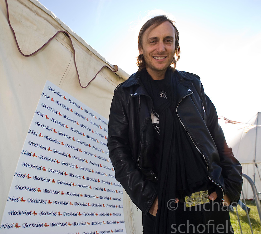 DJ David Guetta talks to the press. Rockness, Saturday 13th June 2009..Pic © Michael Schofield. All Rights Reserved.