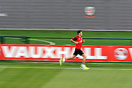 Gareth Bale of Wales in action. Wales senior football team training session in Newport on 12th August 2013. pic by Andrew Orchard