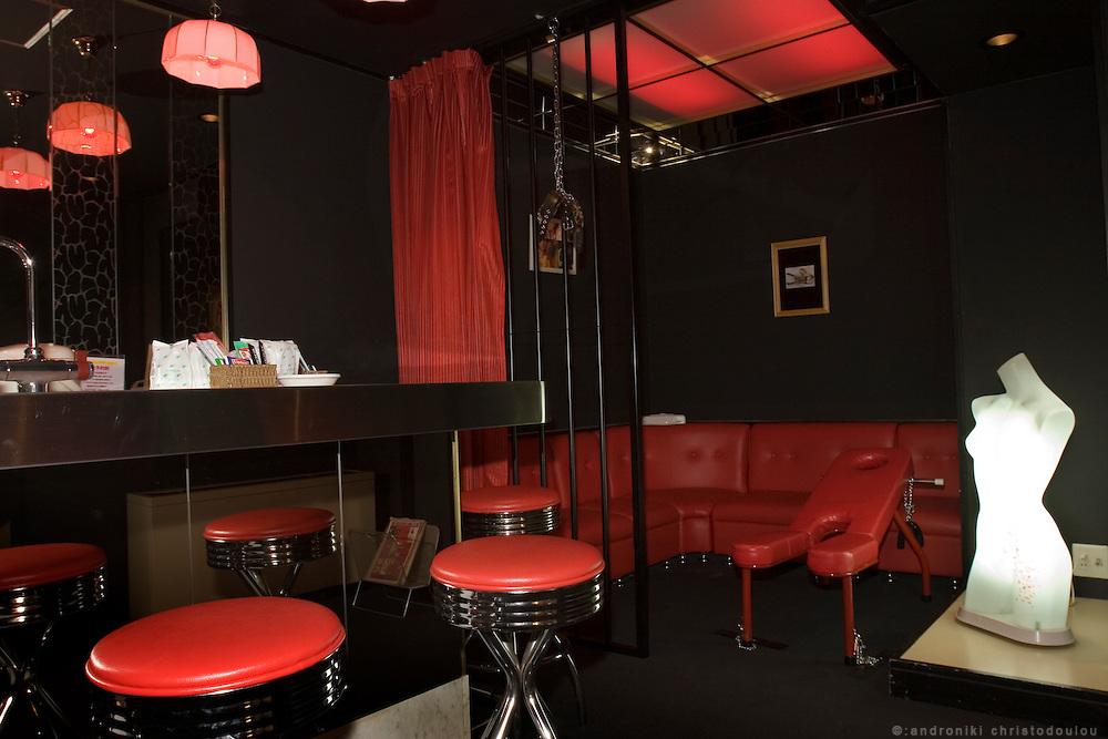 ADONIS Love Hotel in Osaka Ikutamateramachi area. Bar of the SM Party room