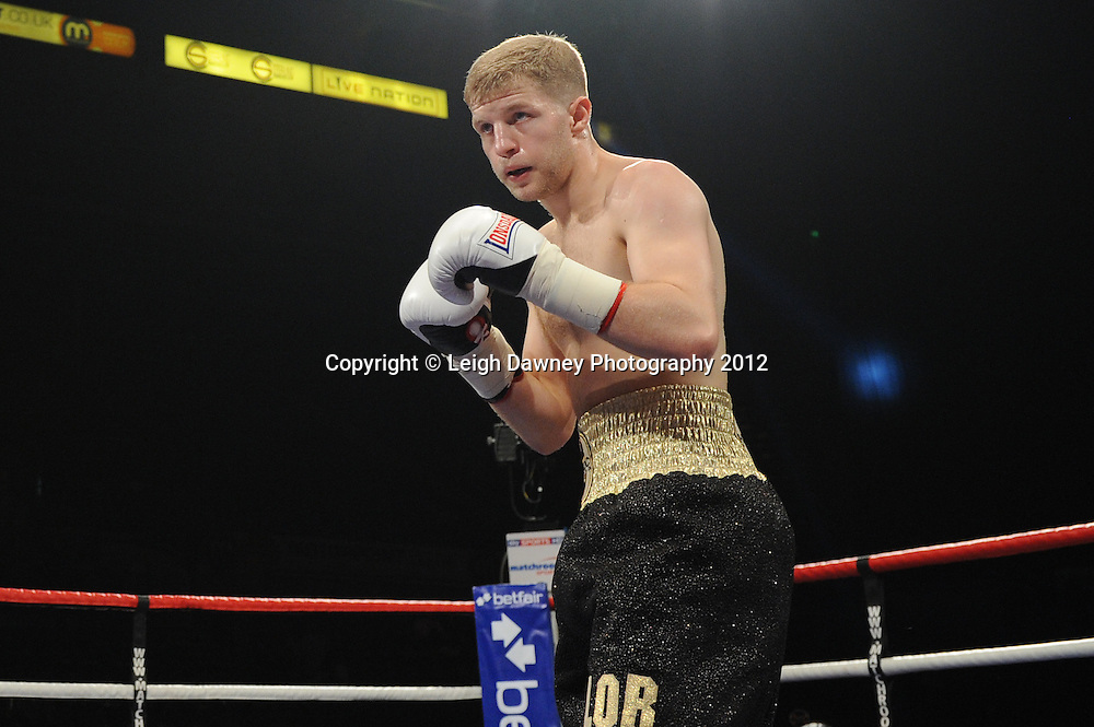 Ryan Taylor defeats Ibrar Riyaz in a Lightweight contest at the Motorpoint Arena, Sheffield, United Kingdom on the 7th July 2012. Promoted by Matchroom Sport. ©Leigh Dawney Photography 2012.