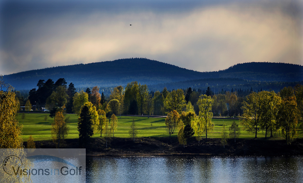 050513 Hagfors Sweden /  / Dramatic light over Uddeholm GC in the spring<br />  <br /> Photo Visions In Golf/Christer Hoglund