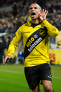BREDA, NAC Breda - SC Cambuur, voetbal Eredivisie, seizoen 2013-2014, 21-12-2013, Rat Verlegh Stadion, NAC Breda speler Anouar Hadouir heeft de 1-0 gescoord.