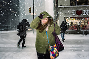 An intimate reportage series of New Yorkers battling harsh snow blizzards An intimate reportage series of New Yorkers battling harsh snow blizzards