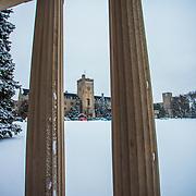 Johnston Hall and the Portico in Winter. Photo by Mido Melebari
