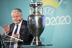 December 14, 2016 - Brussels, BELGIUM - Brussels region Minister of Finance, Budget and External relations Guy Vanhengel pictured during a special ceremony for the launch of the logo of Euro 2020 Brussels, as host city of the 2020 European soccer championships, in Brussels city hall, Wednesday 14 December 2016, with UEFA, Belgian soccer federation KBVB - URBSFA, Brussels Region government and Brussels city. BELGA PHOTO LAURIE DIEFFEMBACQ (Credit Image: © Laurie Dieffembacq/Belga via ZUMA Press)