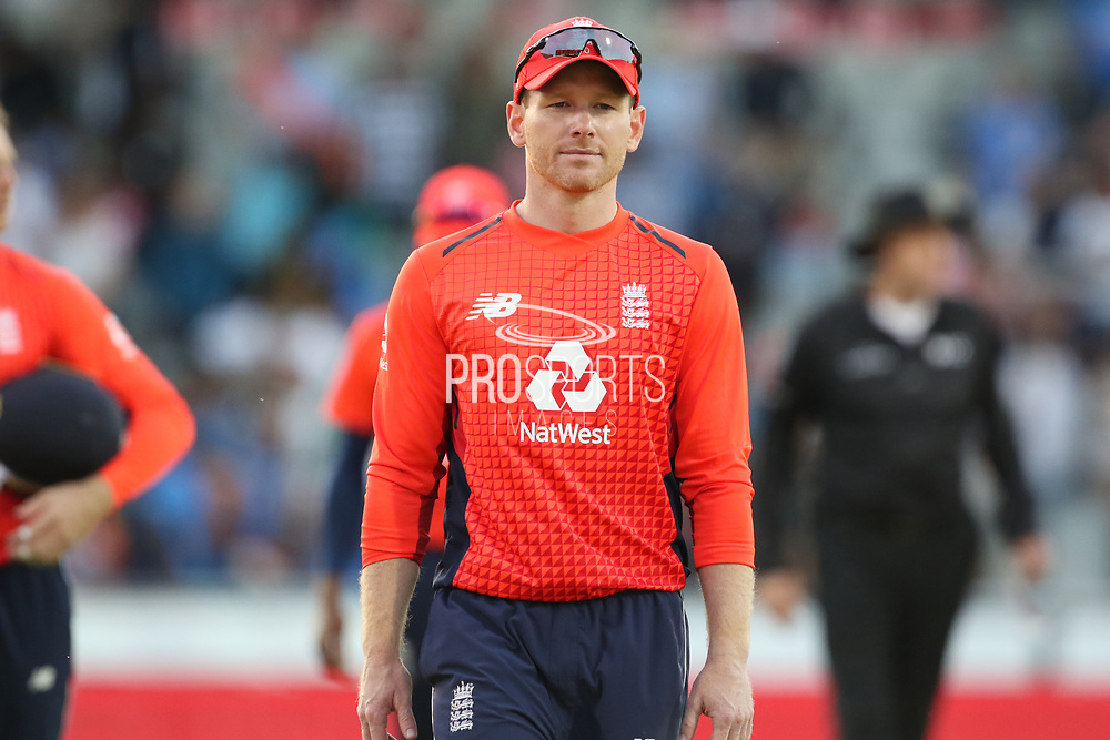 Eoin Morgan (Capt) during the International T20 match between England and India at Old Trafford, Manchester, England on 3 July 2018. Picture by George Franks.