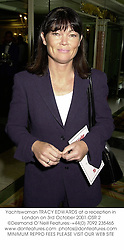 Yachtswoman TRACY EDWARDS at a reception in London on 3rd October 2001.OSR 2