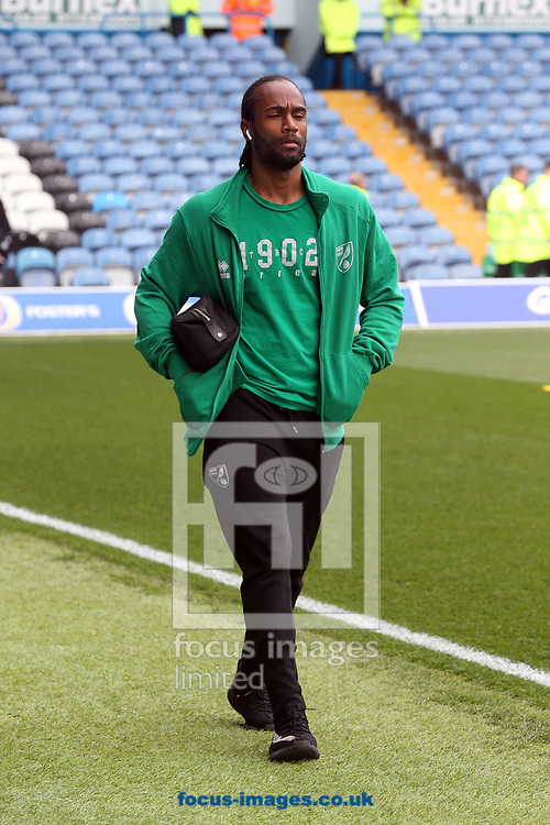 Cameron Jerome of Norwich before the Sky Bet Championship match at Elland Road, Leeds<br /> Picture by Paul Chesterton/Focus Images Ltd +44 7904 640267<br /> 29/04/2017