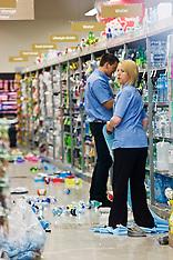 Levin-Damage to Supermarket after earthquake