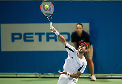 Adrian Menendez-Maceiras (ESP) in action during 1st Semifinal match at Day 8 of ATP Challenger Zavarovalnica Sava Slovenia Open 2018, on August 10, 2018 in Sports centre, Portoroz/Portorose, Slovenia. Photo by Vid Ponikvar / Sportida