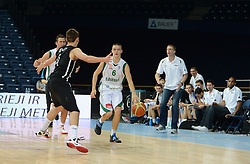 Grega Sajevic of Slovenia during basketball match between National teams of Slovenia and Germany in Division A of U16 Men European Championship Lithuania 2012, on July 20, 2012 in Panevezys, Lithuania. (Photo by Robertas Dackus / Sportida.com)