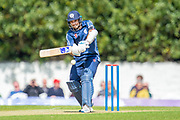 Scotland captain, Kyle Coetzer plays a shot during the One Day International match between Scotland and Afghanistan at The Grange Cricket Club, Edinburgh, Scotland on 10 May 2019.
