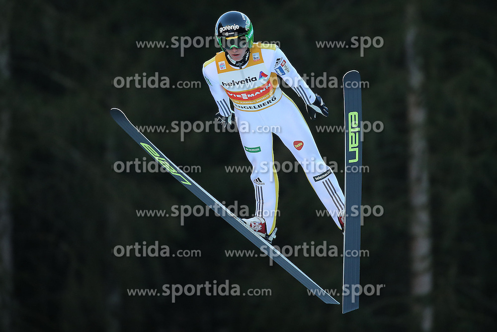 20.12.2015, Gross Titlis Schanze, Engelberg, SUI, FIS Weltcup Ski Sprung, Engelberg, im Bild Peter Prevc (SLO) // during mens FIS Ski Jumping World Cup at the Gross Titlis Schanze in Engelberg, Switzerland on 2015/12/20. EXPA Pictures &copy; 2015, PhotoCredit: EXPA/ Freshfocus/ Claude Diderich<br /> <br /> *****ATTENTION - for AUT, SLO, CRO, SRB, BIH, MAZ only*****