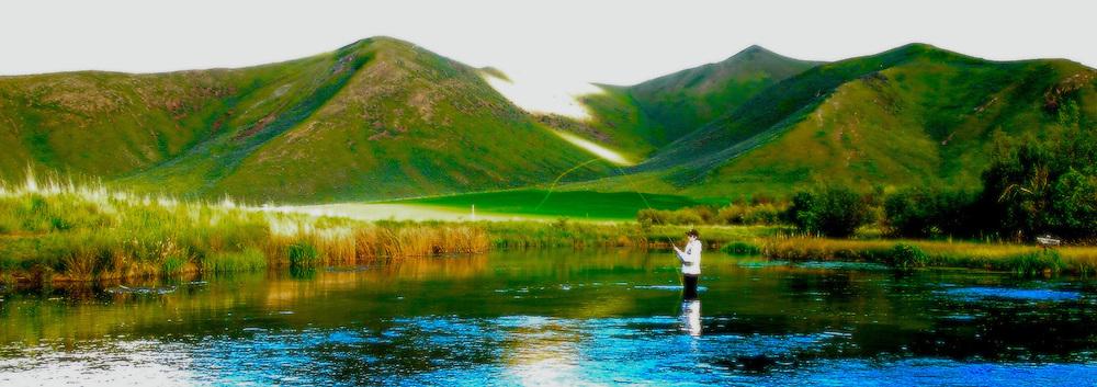 IDAHO. Silver Creek. Sun Valley. Ketchum. Fly Fisherman. Trout Fishing. MR