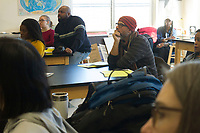 """Race and Green Space in Chicago: Their Legacy and Future"" was this year's topic at the 6th Annual Diversity Symposium hosted by The Ancona School located at 4770 S. Dorchester. Educators, parents, school leadership and community members came together Saturday afternoon, March 10th, 2018 to take part in discussions that addressed the following questions:<br /> 1.	How have historical biases shaped Chicago's green spaces and our communities?<br /> 2.	What are local organizations doing to make recreation and nature more accessible?<br /> 3.	How is green space being used to foster social change?<br /> <br /> 5702 - 5734 – Theodore Richards of the Chicago Wisdom Project and others participate in a discussion on maintaining green spaces in the face of development and gentrification.<br /> <br /> Please 'Like' ""Spencer Bibbs Photography"" on Facebook.<br /> <br /> Please leave a review for Spencer Bibbs Photography on Yelp.<br /> <br /> Please check me out on Twitter under Spencer Bibbs Photography.<br /> <br /> All rights to this photo are owned by Spencer Bibbs of Spencer Bibbs Photography and may only be used in any way shape or form, whole or in part with written permission by the owner of the photo, Spencer Bibbs.<br /> <br /> For all of your photography needs, please contact Spencer Bibbs at 773-895-4744. I can also be reached in the following ways:<br /> <br /> Website – www.spbdigitalconcepts.photoshelter.com<br /> <br /> Text - Text ""Spencer Bibbs"" to 72727<br /> <br /> Email – spencerbibbsphotography@yahoo.com"