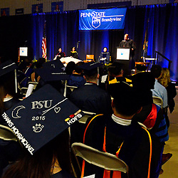 Staff photos by Tom Kelly IV<br /> The Spring Commencement at Penn State University's Brandywine Campus was held Saturday morning, May 9, 2015 in the Commons / Athletic Center at the school in Middletown Township.