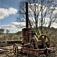 Mining gear at abandoned Quay M