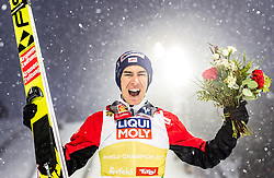 01.03.2019, Seefeld, AUT, FIS Weltmeisterschaften Ski Nordisch, Seefeld 2019, Skisprung, Herren, im Bild Bronzemedaillengewinner Stefan Kraft (AUT) // Bronze Medalist Stefan Kraft of Austria during the men's Skijumping of FIS Nordic Ski World Championships 2019. Seefeld, Austria on 2019/03/01. EXPA Pictures © 2019, PhotoCredit: EXPA/ JFK