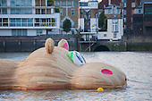 Hippo Sculpture River thames