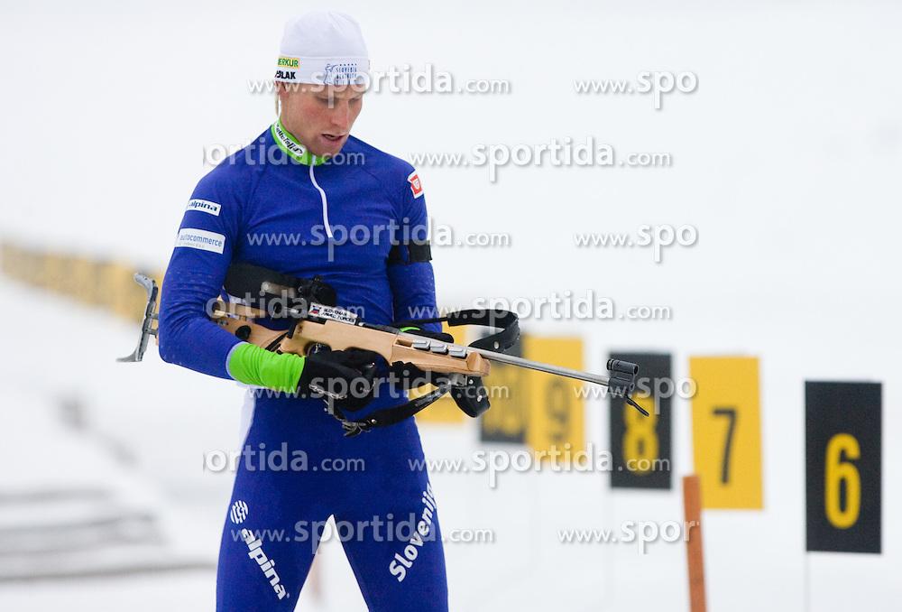 Klemen Bauer at training session of Slovenian biathlon team before new season 2009/2010,  on November 16, 2009, in Pokljuka, Slovenia.   (Photo by Vid Ponikvar / Sportida)