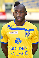 STVV's Yohan Boli poses for the photographer during the 2015-2016 season photo shoot of Belgian first league soccer team STVV, Friday 17 July 2015 in Sint-Truiden.
