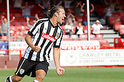 Notts County midfielder Alan Smith (4) celebrates his goal during the EFL Sky Bet League 2 match between Crawley Town and Notts County at the Checkatrade.com Stadium, Crawley, England on 27 August 2016. Photo by Andy Walter.