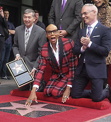 March 16, 2018 - Los Angeles, California, U.S - Leron Gubler and Mitch O'Farrell attend RuPaul's Hollywood Walk of Fame Star ceremony on Friday, March 16, 2018, in Los Angeles. (Credit Image: © Ringo Chiu via ZUMA Wire)