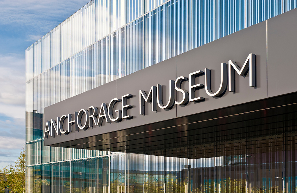 Alaska, Anchorage. The new Anchorage Museum expansion.