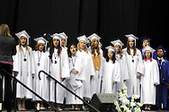 The select senior choir performs during the 119th annual Springboro High School commencement at the Nutter Center in Fairborn, Saturday, June 2, 2012.
