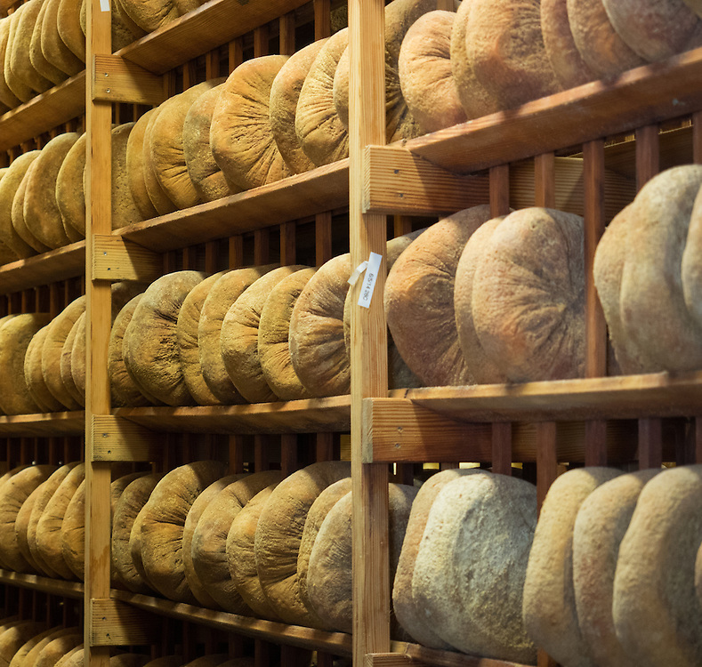 Aging rooms at Pacheco Ranch & Achandinha Cheese Company