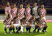 Fotball<br /> 08.09.2007<br /> EM-kvalifisering<br /> Kroatia v Estland<br /> Foto: Gepa/Digitalsport<br /> NORWAY ONLY<br /> <br /> Lagbilde Kroatia<br /> Bild zeigt Josip Simunic, Niko Kranjacar, Mladen Petric, Vedran Corluka, Stipe Pletikosa, Robert Kovacs, hockend: Draija, Srnao, Niko Kovac, Luka Modric, Eduardo Da Silva (CRO)
