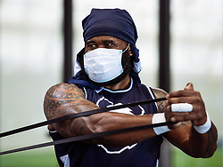 Semi Radradra in action in the gym as Bristol Bears start to use their new almost completed Training centre - Rogan/JMP - 08/07/2020 - RUGBY UNION - Beggar Bush Lane - Bristol, England.