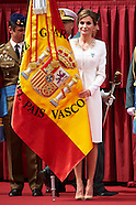 051315 Queen Letizia  National Flag delivery to the Guardia Civil in Vitoria-Gasteiz