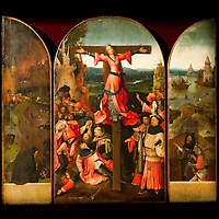"""Triptych of the Martyrdom of St Liberata"" panels by Hieronymus Bosch on display at Palazzo Grimani. The  exhibition will be open until 20th March 2011"