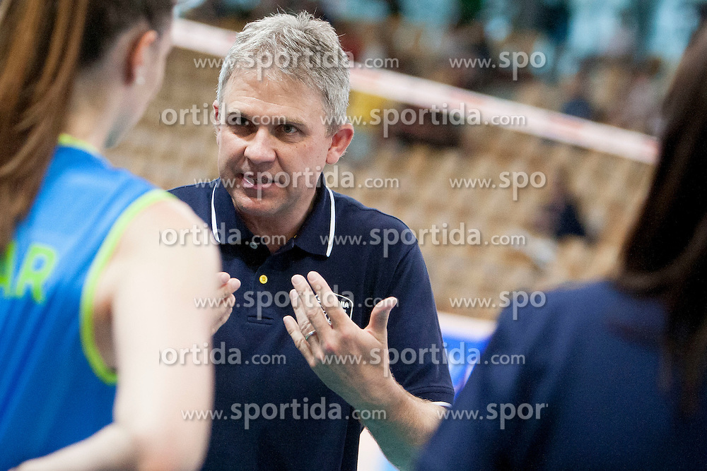 Bruno Najdic, head coach of Slovenia during volleyball match between National Teams of Slovenia and Azerbaijan of 2014 CEV Volleyball European League Women - Pool A, on July 5, 2014, in Arena Ljudski vrt Lukna, Maribor, Slovenia, Slovenia. Photo by Urban Urbanc / Sportida