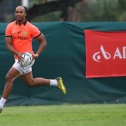 DURBAN, SOUTH AFRICA - SEPTEMBER 01: JP Pietersen during the South African national rugby team training session at Peoples Park on September 01, 2015 in Durban, South Africa. (Photo by Steve Haag/Gallo Images)