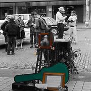 Memorial for Jim Hinde, Pike Place Market Busker, June 11, 2008, Pike Place Market, Seattle, Washington