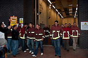 South Yorkshire FBU members walk out on strike, Eyre Street Sheffield...© Martin Jenkinson, tel 0114 258 6808 mobile 07831 189363 email martin@pressphotos.co.uk. Copyright Designs & Patents Act 1988, moral rights asserted credit required. No part of this photo to be stored, reproduced, manipulated or transmitted to third parties by any means without prior written permission