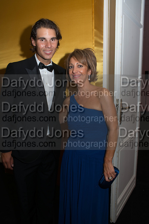 RAFA NADAL; MARTA GOMEZ MARTIN, Vanity Fair Person of the year. Italian Consulate. Madrid. 17 September 2012.