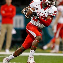 November 10, 2011; New Orleans, LA, USA;  Houston Cougars running back Daniel Spencer (27) against the Tulane Green Wave at the Mercedes-Benz Superdome.  Mandatory Credit: Derick E. Hingle-US PRESSWIRE