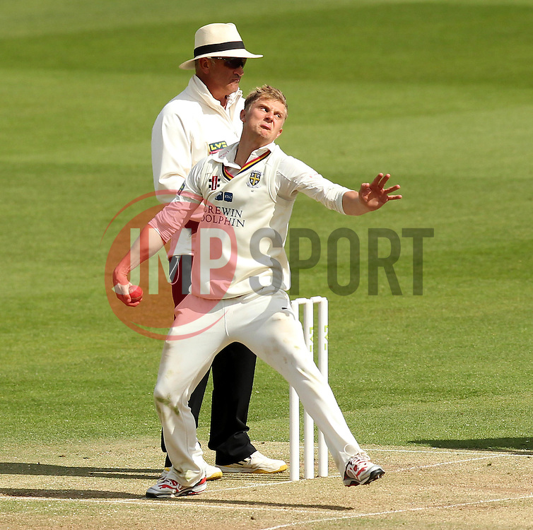 Durham's Scott Borthwick bowls - Photo mandatory by-line: Robbie Stephenson/JMP - Mobile: 07966 386802 - 03/05/2015 - SPORT - Football - London - Lords  - Middlesex CCC v Durham CCC - County Championship Division One