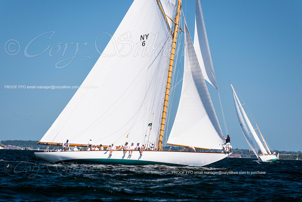 Spartan sailing in the Newport Classic Yacht Regatta.
